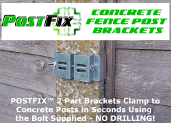 concrete fence post bracket